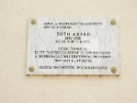 13. Tóth Árpád emléktábla