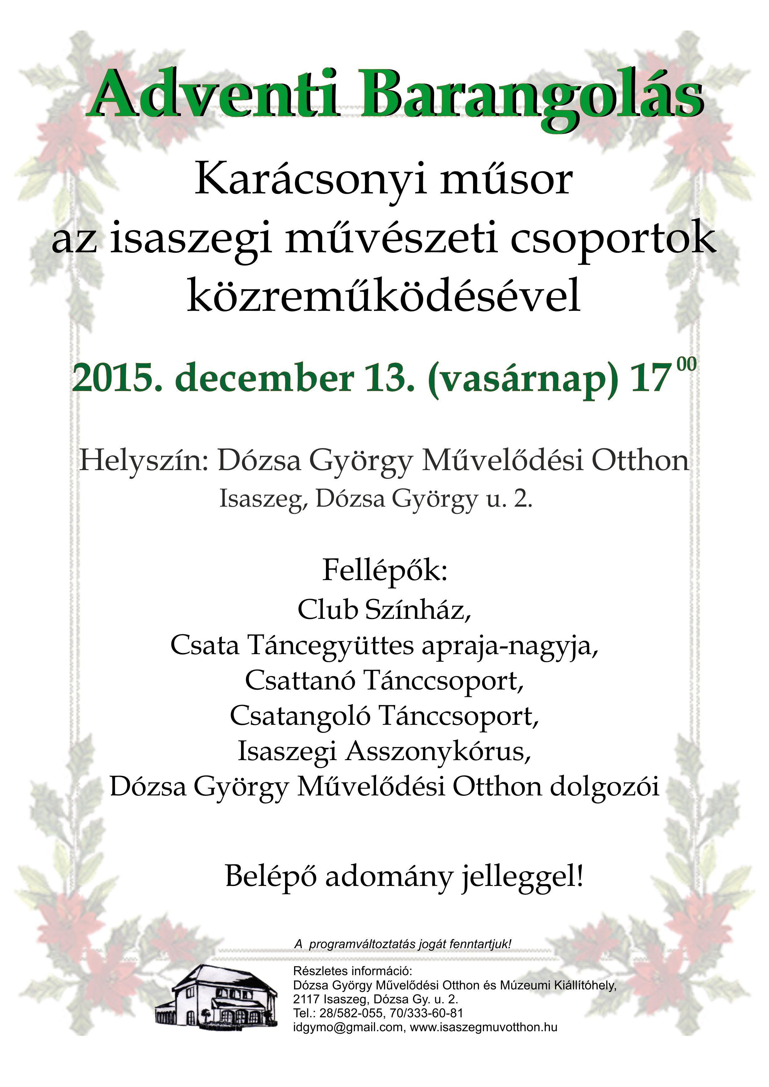 Adventi_barangolás_plakátA4