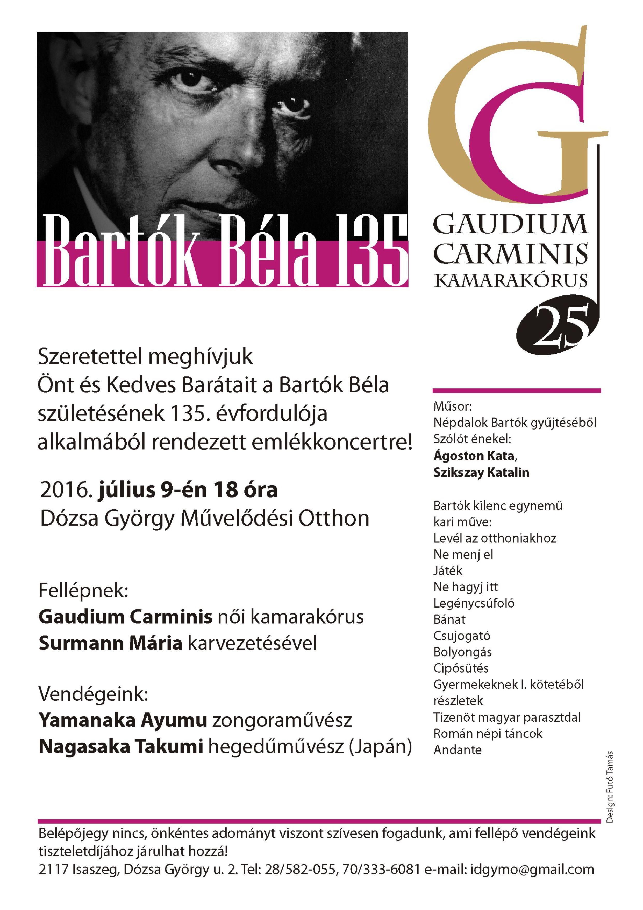 Bartók Béla 135