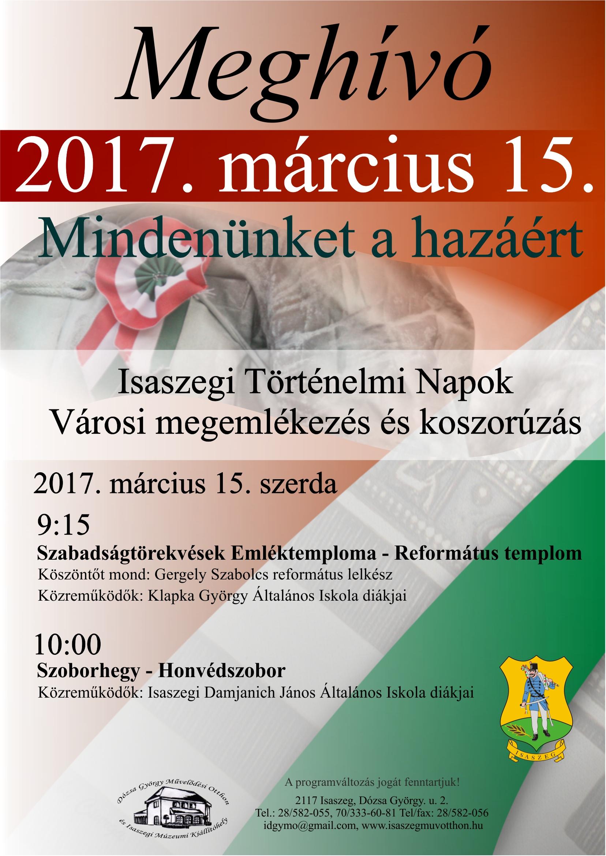 Isaszegi Történelmi Napok - Március 15.