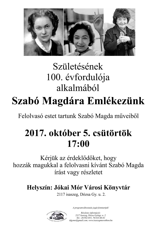 Szabó Magdára Emlékezünk