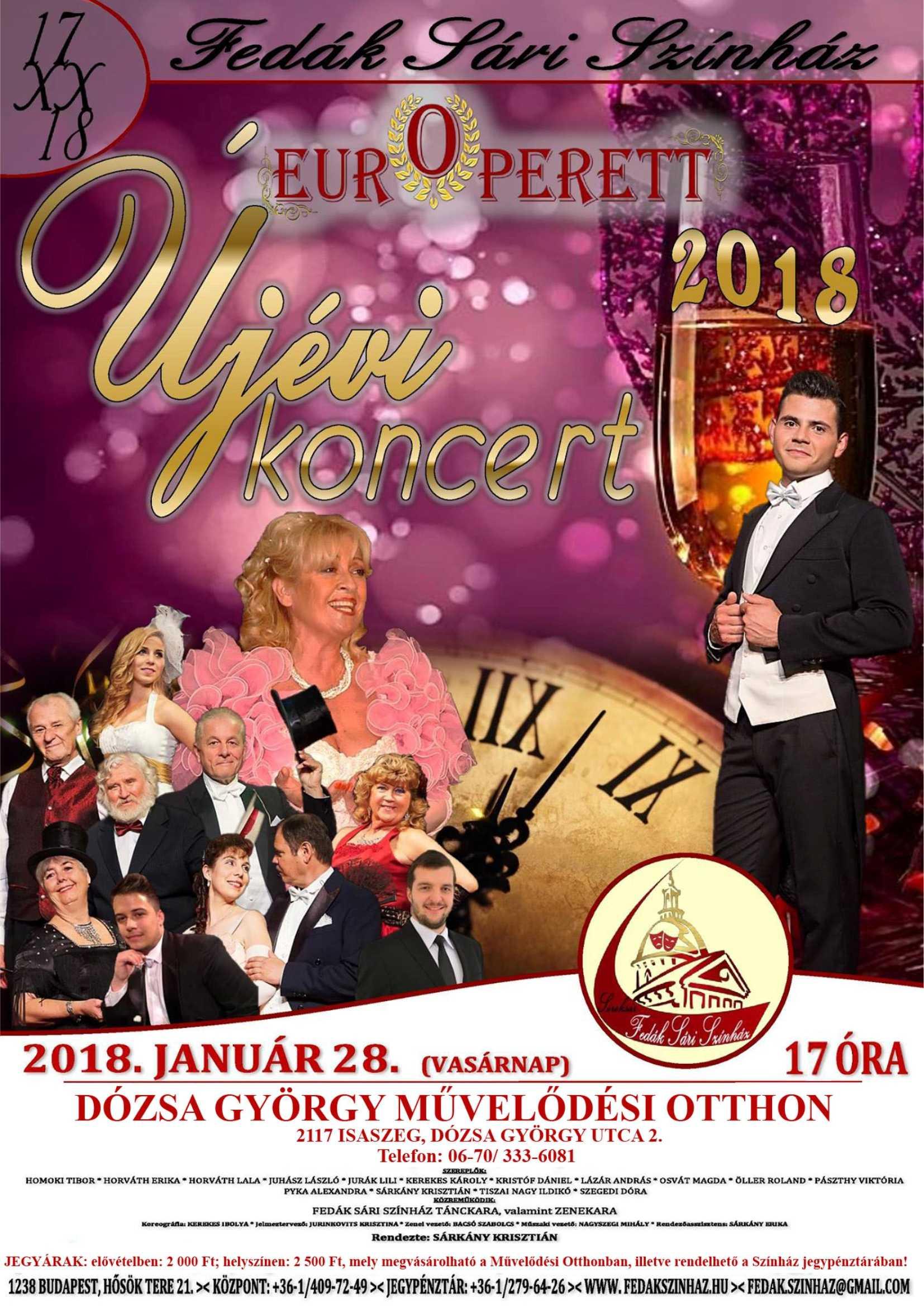 EUROPERETT újévi koncert