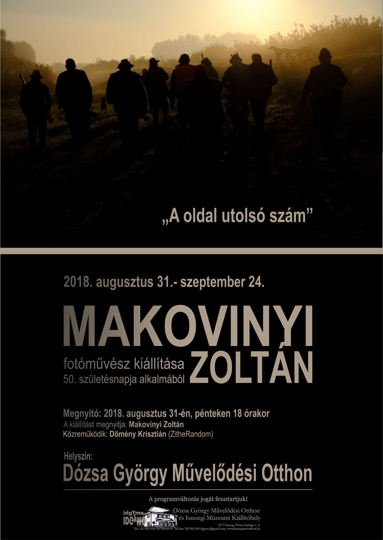 Makovinyi Zoltán fotóművész kiállításának megnyitója