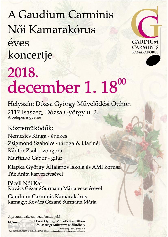 Gaudium Carminis Női Kamarakórus éves koncert