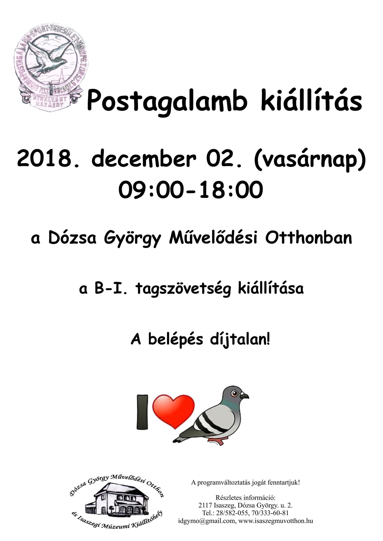 Postagalamb kiállítás