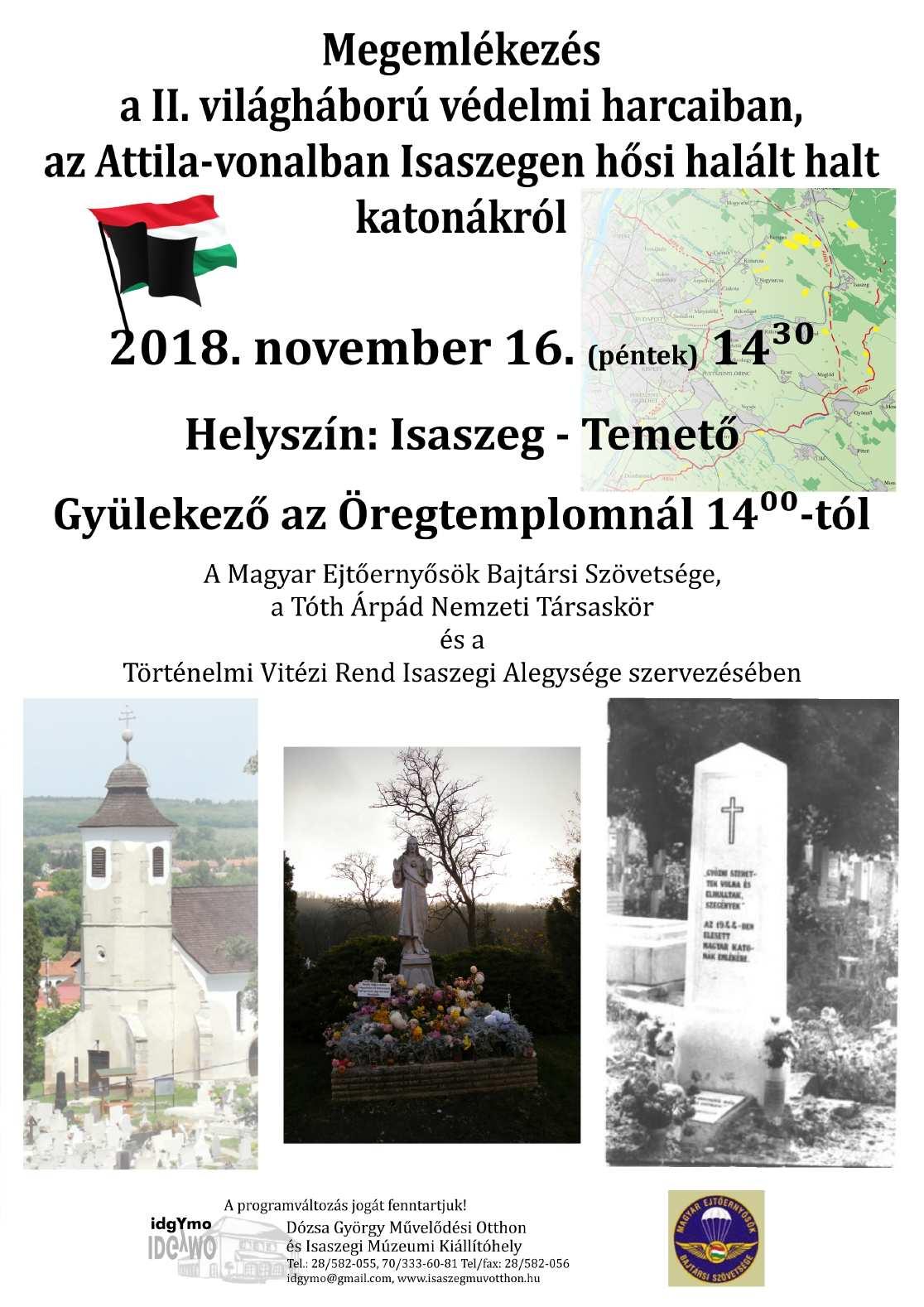 Attila-vonal megemlékezés 1116