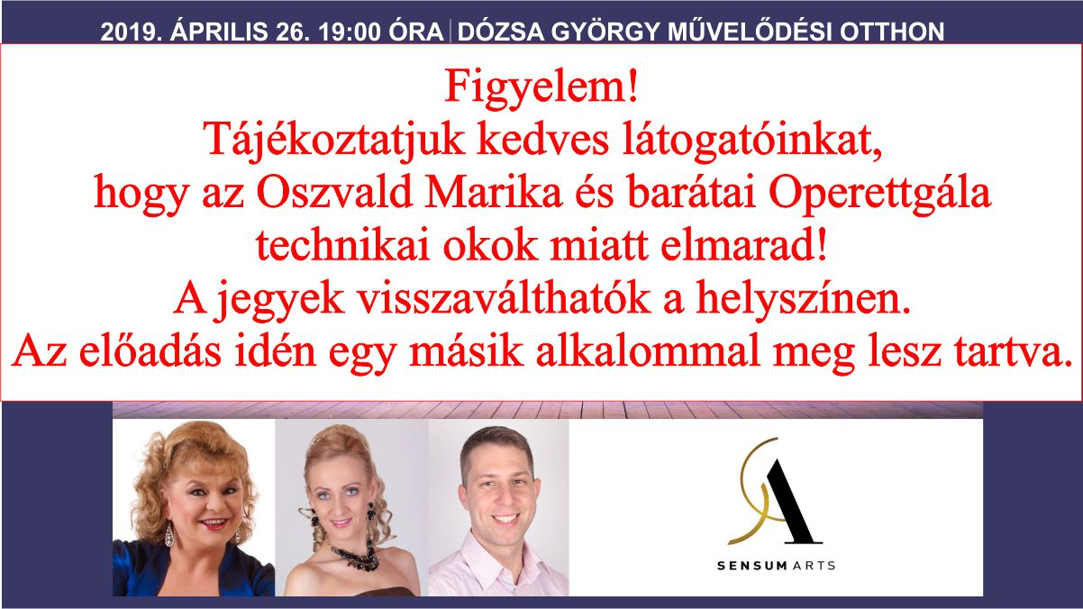 Oszvald Marika és barátai Operettgála
