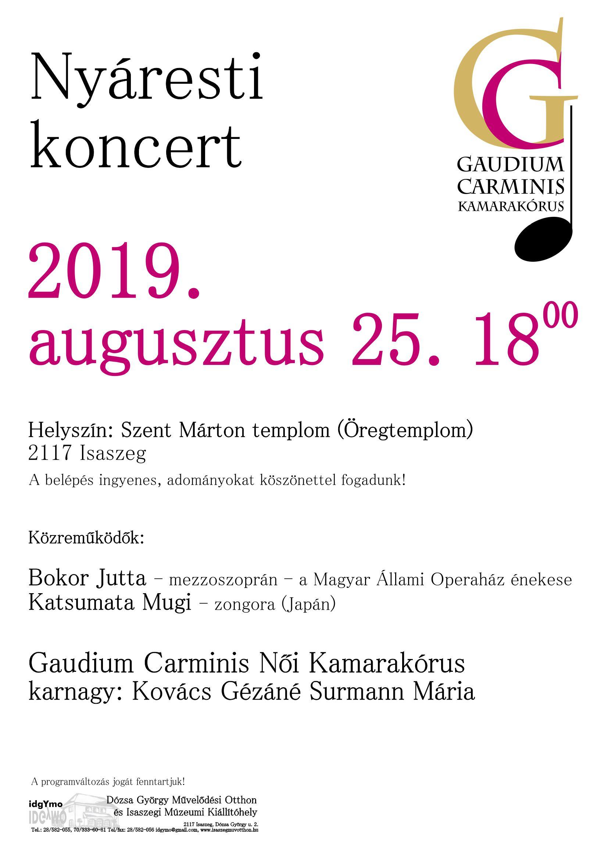 Nyáresti koncert - Gaudium Carminis Női Kamarakórus