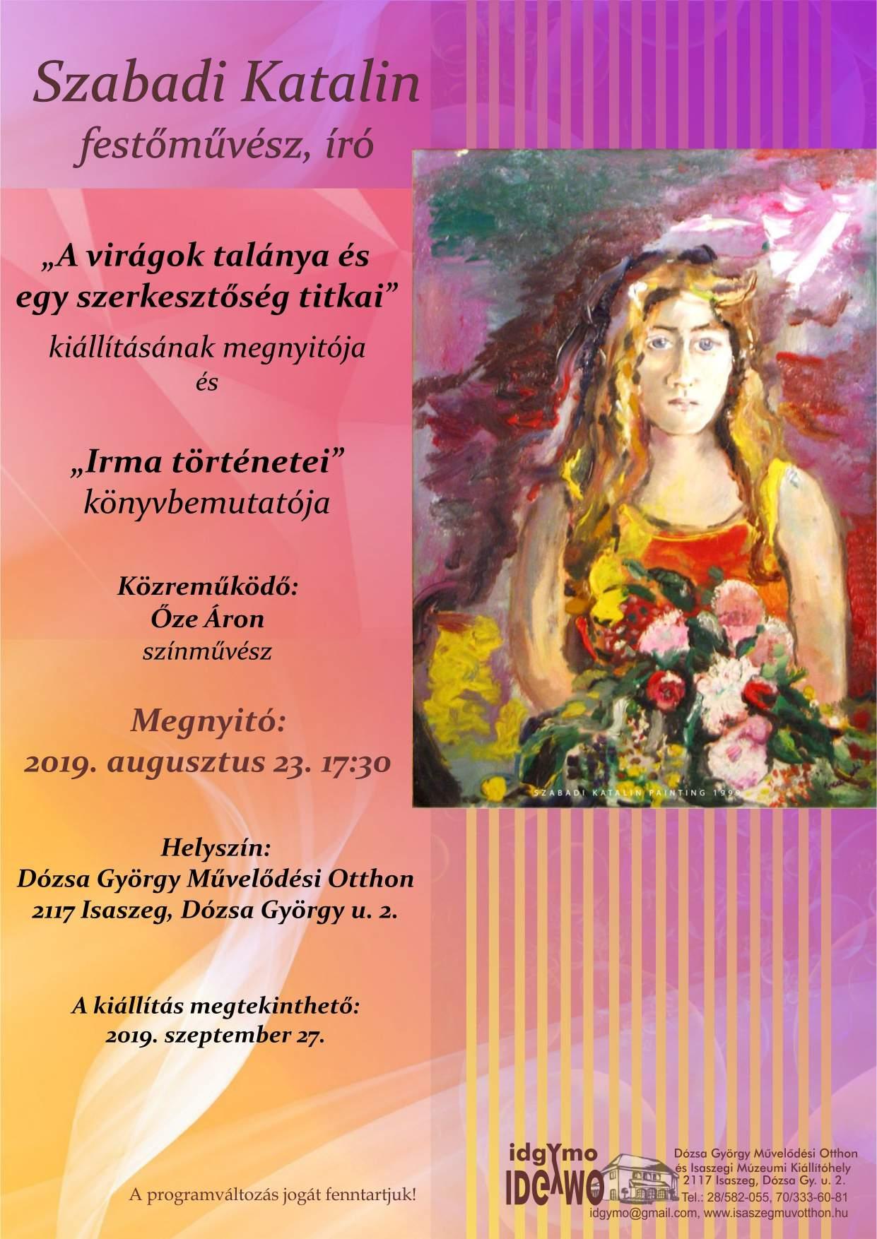 Szabadi Katalin festőművész, író kiállításmegnyitója